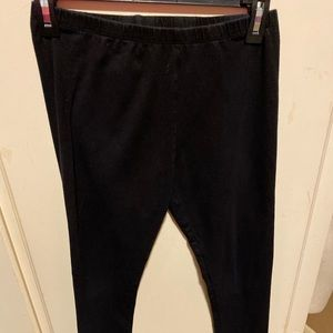 Children's Place Black Cotton Leggings Size 16